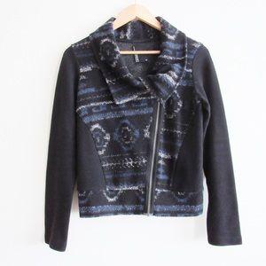 Anthropologie Dolan Rosa Knit Moto Jacket